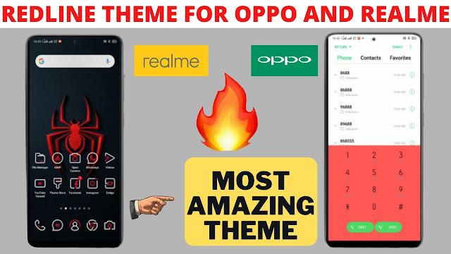 Chủ đề Redline cho Oppo và Realme quyến rũ nhất