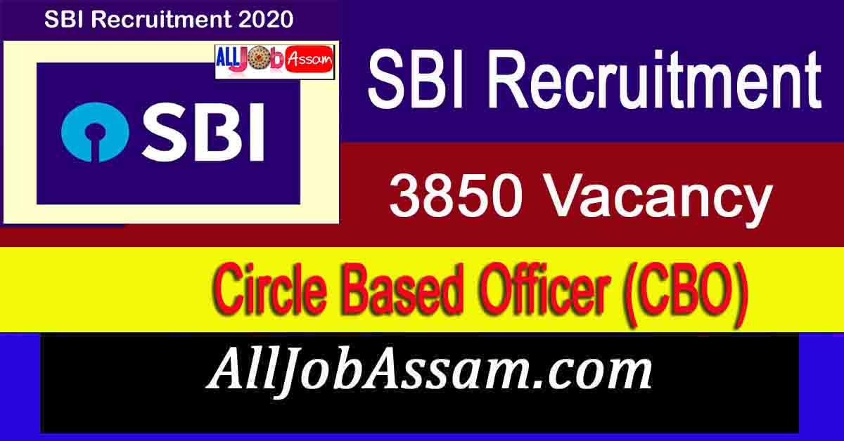 SBI Circle Based Officer Recruitment 2020
