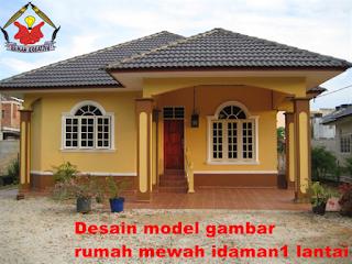 desain gambar rumah 1 lantai