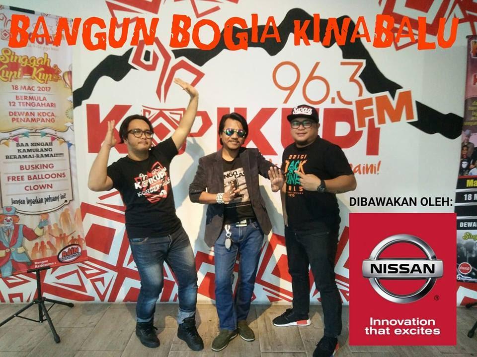 Kupistika Bangun Bogia Kinabalu: Den Bisa (tengah), DJ Niz (kiri) & DJ Gregz (kanan)