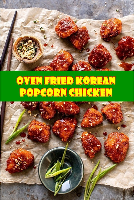 #Oven #Fried #Korean #Popcorn #Chicken