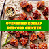 #Oven #Fried #Korean #Popcorn #Chicken