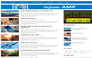 5 FREE AMP Ready Blogger Templates for Blogspot Domains in 2021-2022
