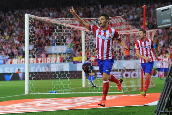 David Villa has scored 8 goals in 15 league appearances for Atlético Madrid this season