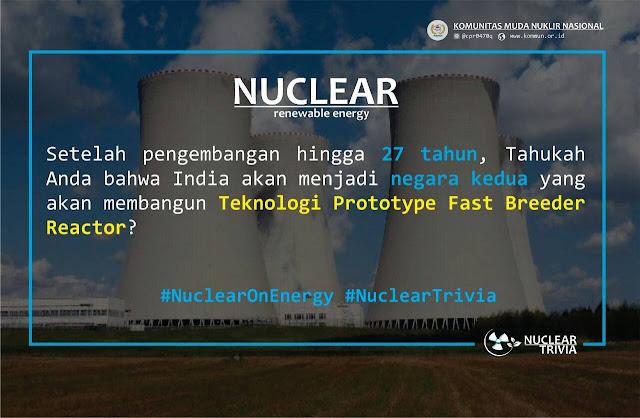 India Negara Kedua Pembangun Teknologi Prototype Fast Breeder Reactor
