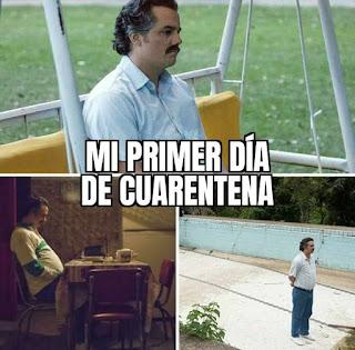 Actor Pablo Escobar mirando al horizonte