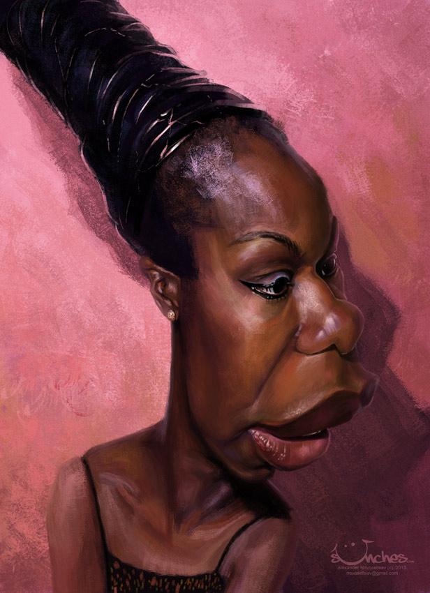 """Nina Simone"" por Alexander Novoseltev"