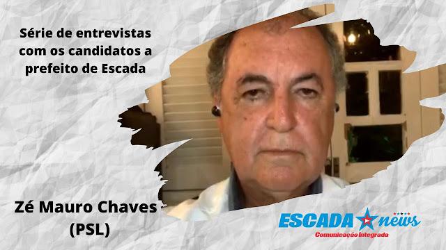 """""""Vou fazer uma auditoria nas contas dos dois últimos prefeitos de Escada"""" afirma Zé Mauro Chaves em entrevista"""