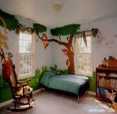 Bedroom forest for kids room