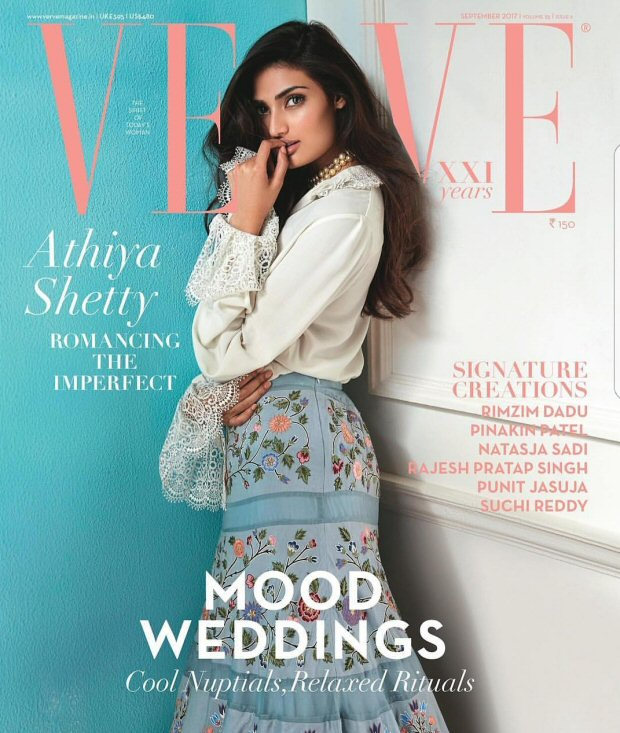 Athiya Shetty Simple and Elegant Look on The Cover of Verve Magazine September 2017