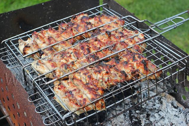 рецепт шашлыка из куриных бедрышек