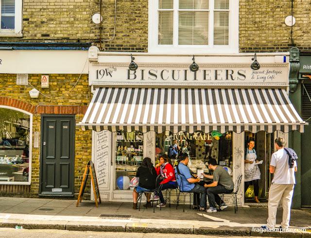 Londres - casa de chá Biscuiteers, em Notting Hill