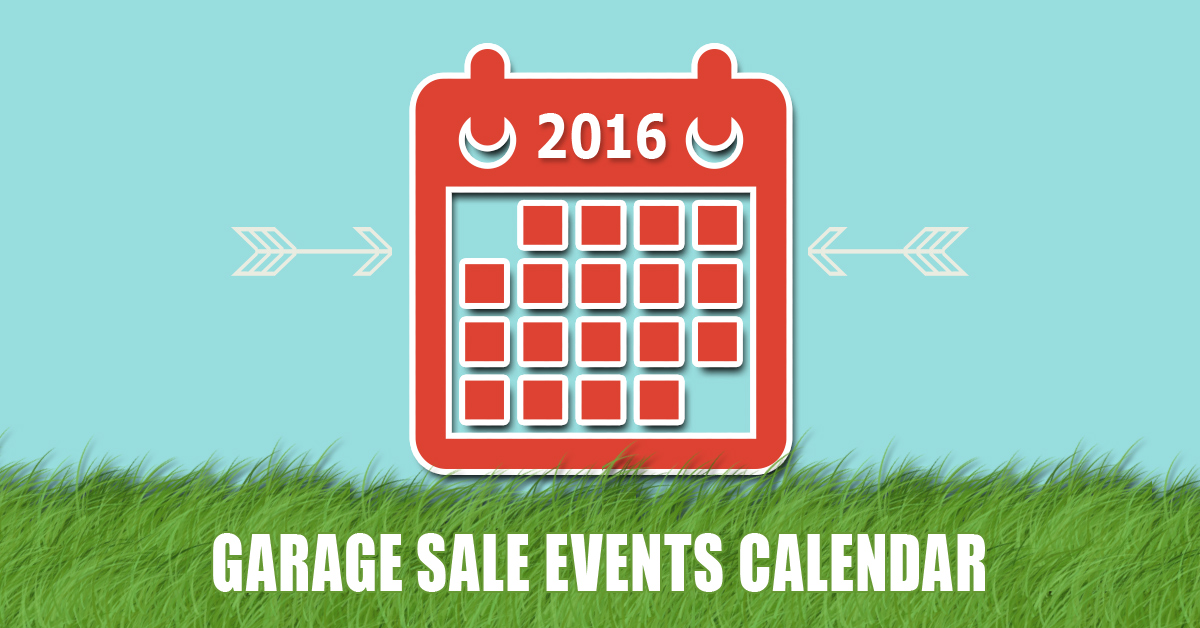 City-Wide, Neighborhood Garage Sales Calendar 2016