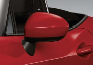 Fiat Spider Mirror Cover - Red