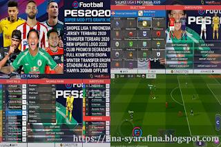 FTS Mod PES 2020 Gila Game Shopee Liga 1 & Full Liga Eropa