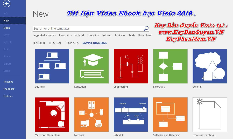 Tài liệu Video và Ebook học Visio 2019 .