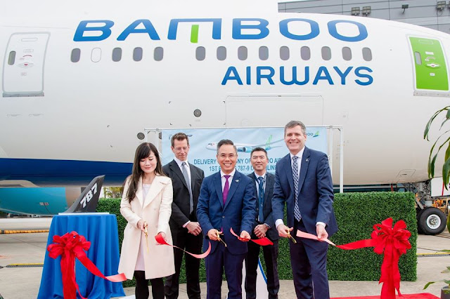 Vietnamese Startup Airlines Bamboo Airways Takes Delivery of First Boeing 787-9