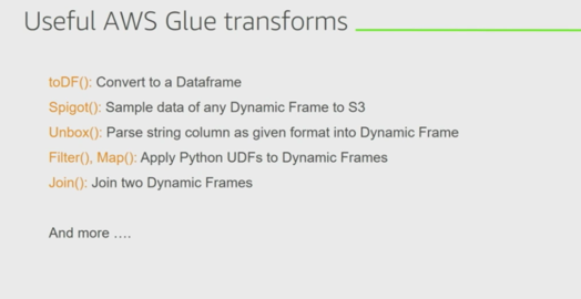 AWS Glue Transforms | Beyond 9 to 5