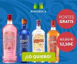 4 botellas de Larios a un precio irresistible