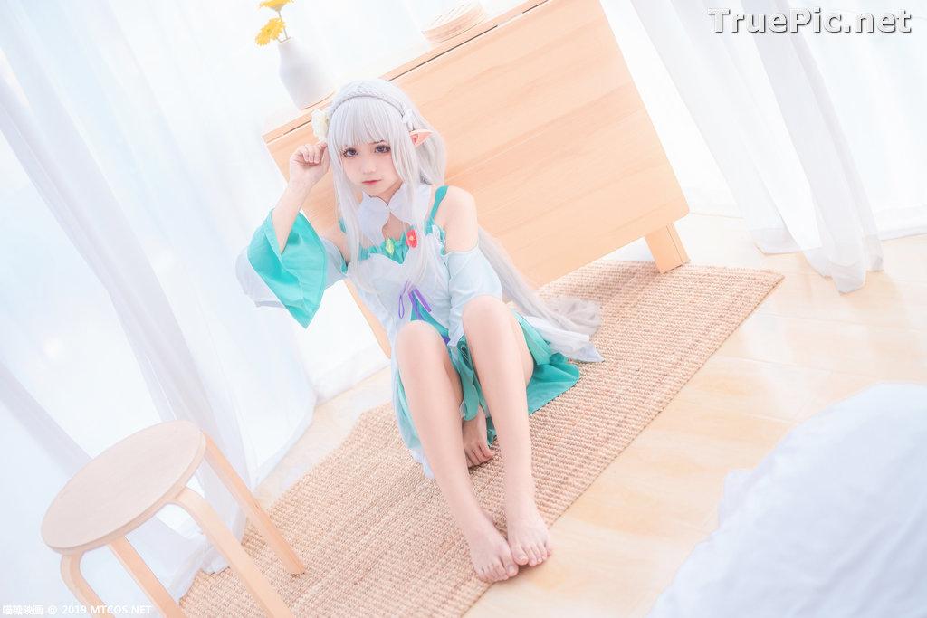 Image [MTCos] 喵糖映画 Vol.020 – Chinese Cute Model – Re:Zero Emilia Cosplay - TruePic.net - Picture-6