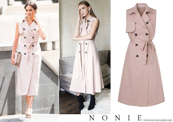 Meghan Markle wore Nonie trench coat from the Nonie SS18 collection