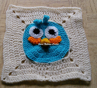 free crochet pattern, free crochet granny square pattern, free crochet mitered square pattern, free crochet angry bird pattern, free crochet angry bird granny square pattern, donation ideas, Project Chemo Crochet, Oswal Cashmilon, Pradhan stores,