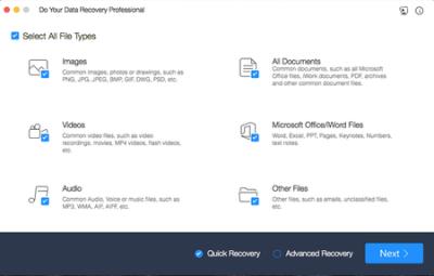تنزيل أفضل برنامج لاستعادة البيانات المفقودة أو المحذوفة Do Your DataRecovery 6.8