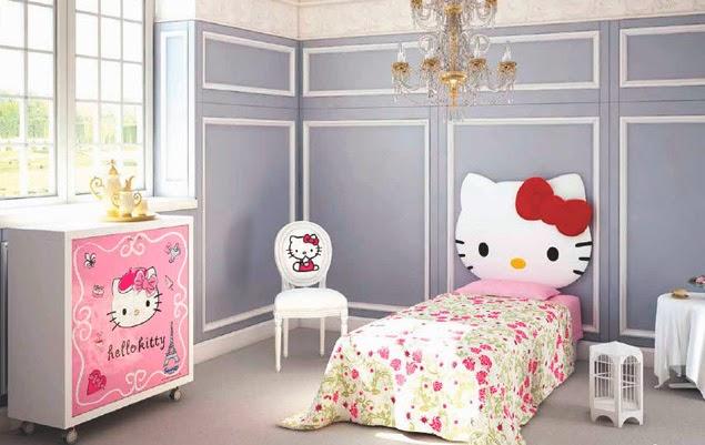 Cabeceras de cama de hello kitty dormitorios para ni as for Camera bambina
