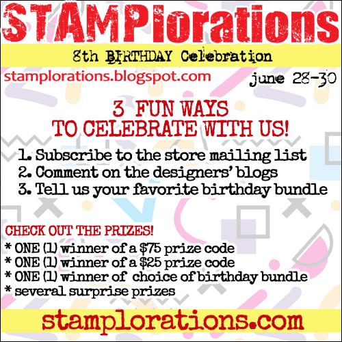 Stamplorations 8th Birthday