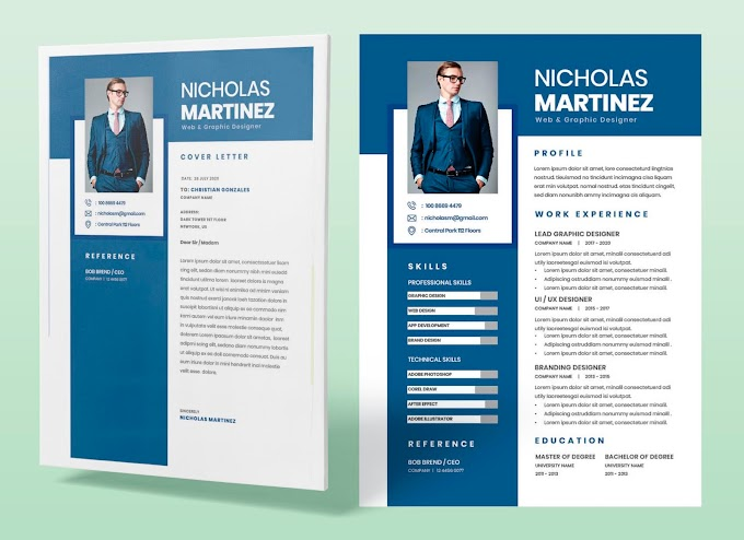 Attractive Cv Resume Template Free Download