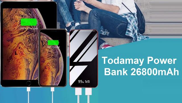 Todamay Power Bank 26800mAh