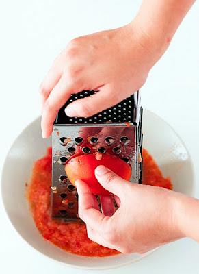 grated tomato