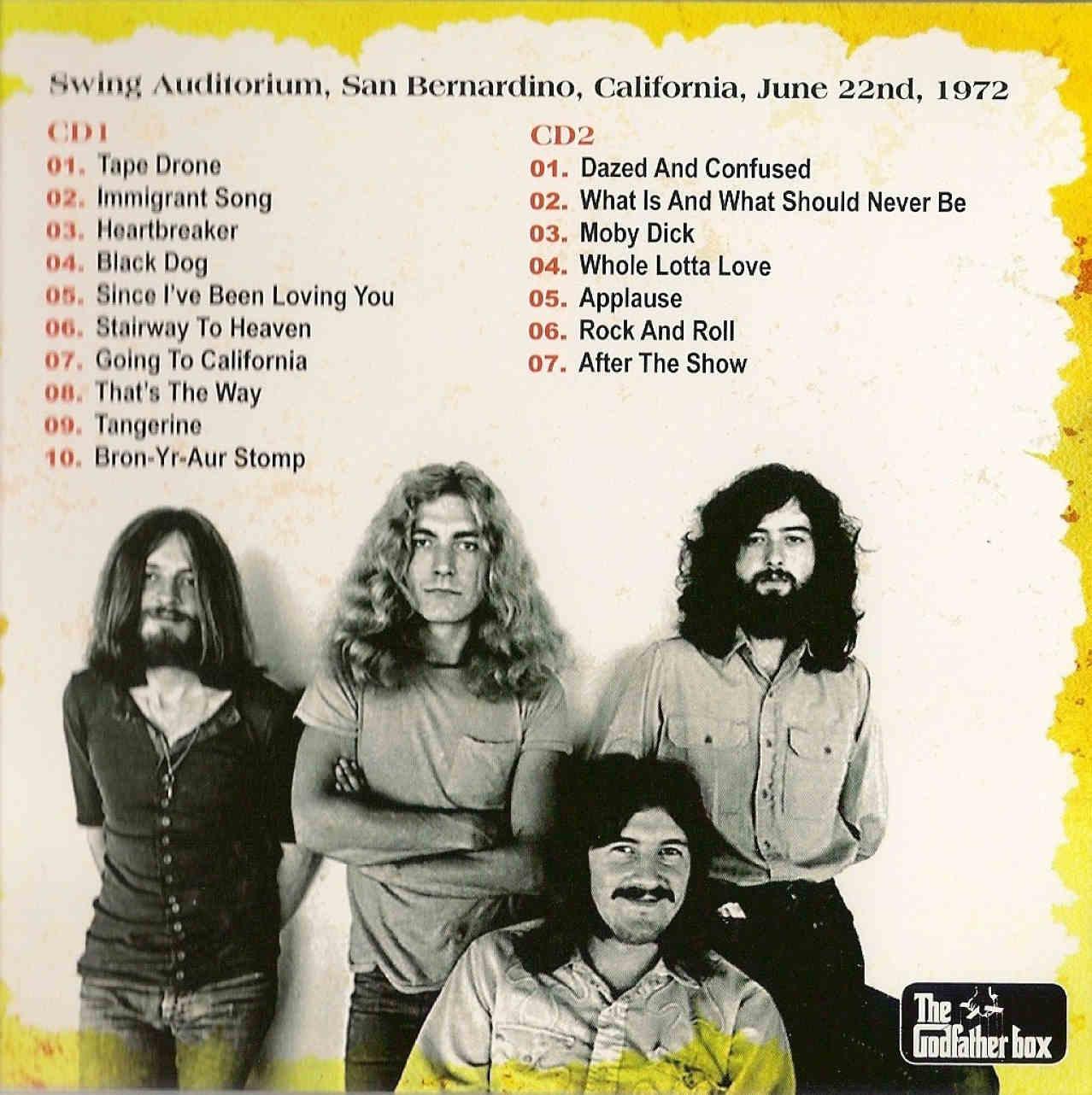 Led Zeppelin 1st Night Berdu Swing Auditorium San