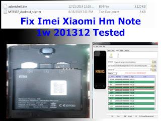 Fix Imei Xiaomi Hm Note 1w 201312
