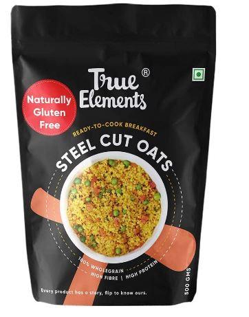 True Elements Steel Cut Oats 1.5 kg - Gluten Free Oats, Healthy Cereal, Diet Food