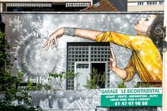 Sunday Street Art : Alex Tricky et Nezim Saidi - Garage le Bicontinental - rue de la Mare - Paris 20