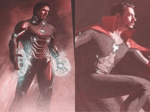 Iron Man in Doctor Strange Cape