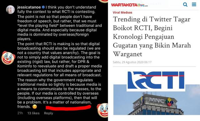 Lucunya Putri Hari Tanoe, Dukung Gugatan RCTI Karena Nasionalisme Tapi Gunakan Bahasa Asing