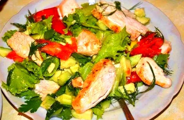 салат с курицей картинка