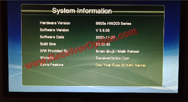 GX6605S HW203 NEW SOFTWARE WITH ONE YEAR FREE SCAM SERVER & NEW THEME