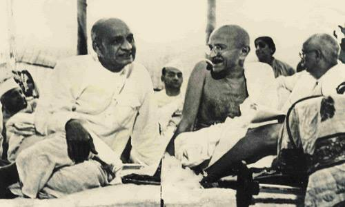 Sardar Patel and Gandhiji