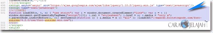CSS font awesome memblokir perenderan laman