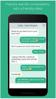 تحميل تطبيق تعلم الإنجليزية Andy للاندرويد مجاناً Apk