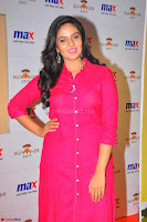 Sree Mukhi in Pink Kurti looks beautiful at Meet and Greet Session at Max Store (13).JPG