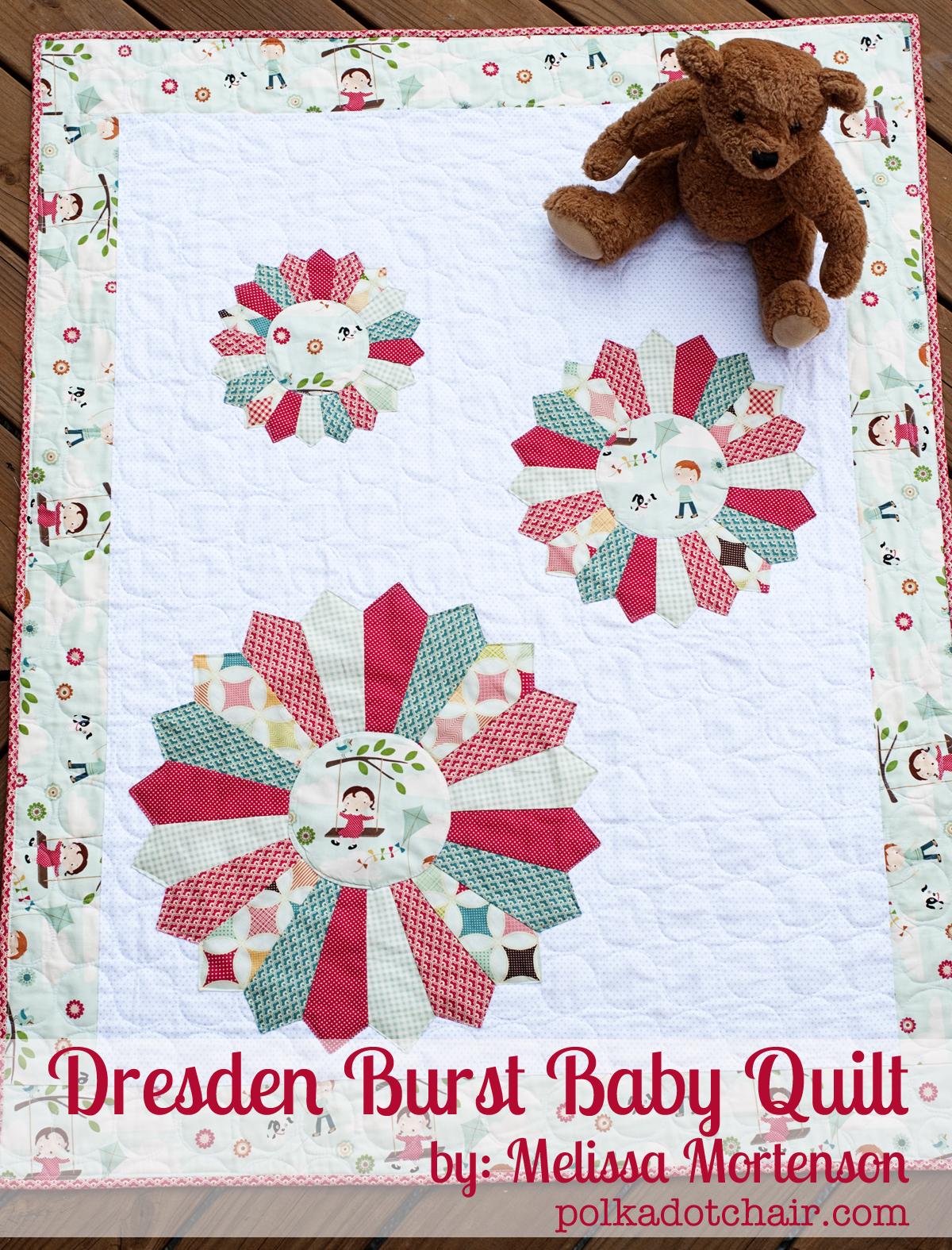 Dresden Burst Baby Quilt Pattern For Riley Blake Designs