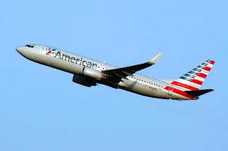 American Airlines Boeing 737 departs Sea-Tac Airport, SEA, NYSE:BA, Seattle