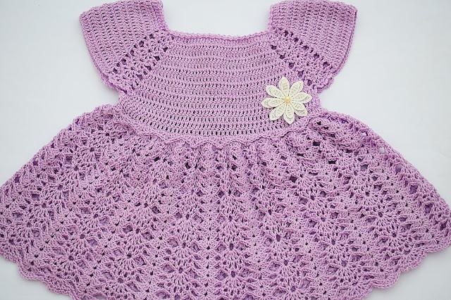 5 -Crochet Imagen Vestido con canesú morado a crochet muy fácil y sencillo por Majovel Crochet