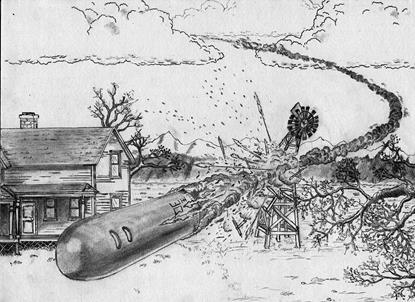 Đĩa bay ngoài hành tinh rơi xuống Aurona năm 1897 và vị khách lạ đến từ không gian