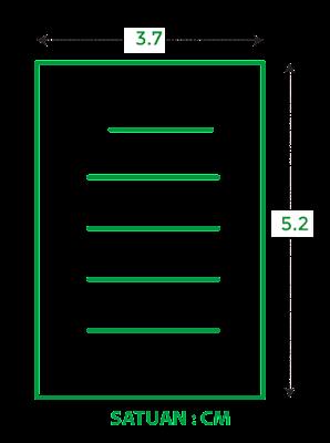 Ukuran kertas A9 dalam cm
