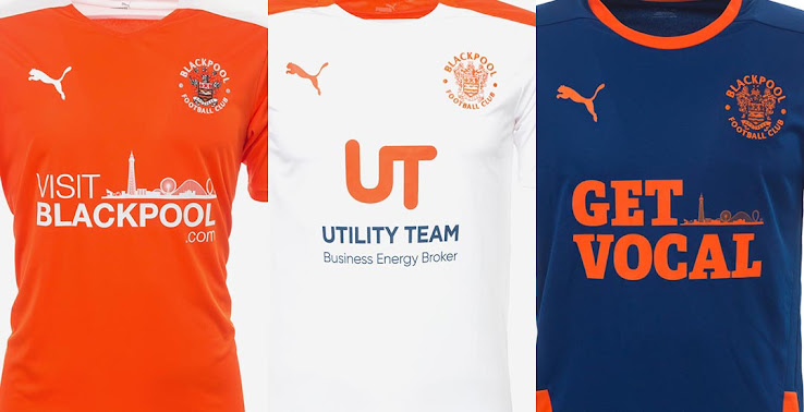 Puma Blackpool 20 21 Home Away Third Kits Released Footy Headlines